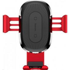 Baseus Držák na mobil Baseus Wireless Charger Gravity Phone holder - červený