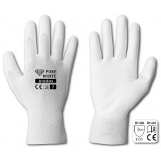 BRADAS rukavice PURE WHITE PU  8