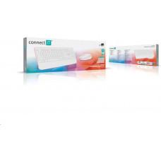 Connect IT Combo bezdrátová bílo-růžová klávesnice + myš, (+1x AAA +1x AA baterie zdarma), CZ + SK