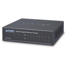 Planet GSD-1603 Switch, 16x 10/100/1000, externí zdroj, kov