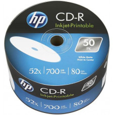 HP CD-R HP 700MB (80min) 52x Inkjet Printable 50-spindl Bulk