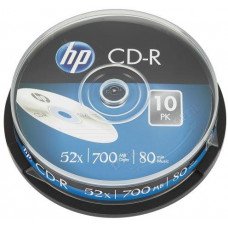 HP CD-R HP 700MB (80min) 52x 10-spindl