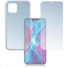 4smarts 360° Protection set (tvrzené sklo + gelový zadní kryt) pro Apple iPhone 12 / 12 Pro