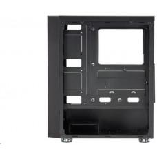 Fortron skříň Midi Tower CMT140 Black, průhledná bočnice