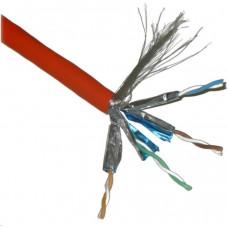 Planet FTP TWIN kabel PlanetElite, Cat6A, drát, 4pár LS0H, Dca, oranžový, 100m