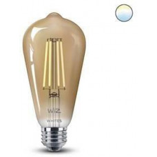 WiZ LED Žárovka SMART WiFi ST64 E27 DW FA Q Teplá Dimmable Filament 550lm 2700K (WZE21016411-A)