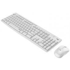 Logitech Silent Wireless Combo MK295, bezdrátová klávesnice + myš, US, Off-White