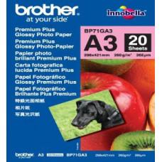 BROTHER BP71GA3, 20 listů, A3 Premium Glossy, 260g