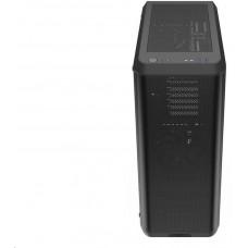SilentiumPC skříň MidT Ventum VT4 TG / ATX / 2x120mm fan / 2xUSB 3.0 / tvrzené sklo / černá