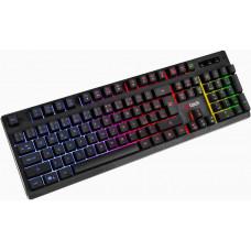 C-Tech klávesnice herní polomechanická Iris (GKB-08), casual gaming, CZ/SK, duhové podsvícení, USB