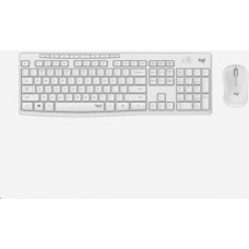 Logitech Silent Wireless Combo MK295, bezdrátová klávesnice + myš, DE, White