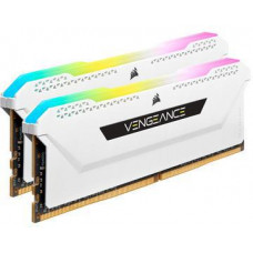 CORSAIR 16GB=2x8GB DDR4 3200MHz VENGEANCE RGB PRO SL WHITE s RGB LED CL16-20-20-38 1.35V XMP2.0