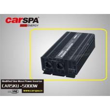 CARSPA Měnič napětí Carspa CAR5KU-12 12V/230V+USB 5000W, modifikovaná sinus