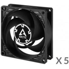 ARCTIC COOLING ARCTIC P8 PWM PST, 80x80x25 mm case fan, 3000 RPM, 4-pin, value pack 5ks