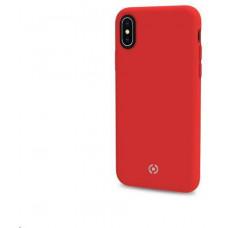 Celly silikonový zadní kryt Feeling pro iPhone XS / X, červená