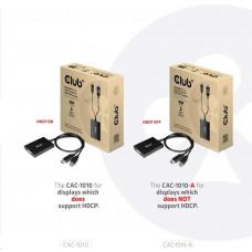 Club 3D Club3D Adaptér aktivní DisplayPort na Dual Link DVI-D, USB napájení, 60cm, HDCP off
