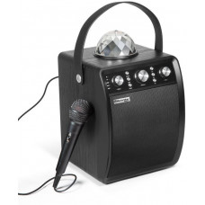 Technaxx MusicMan Disco reproduktor + mikrofon, BT, MicroSD, USB, AUX-IN, FM, 4000mAh,černý