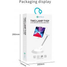 COTEetCI dvoudílný držák ve tvaru lampy pro mobilní telefony/tablety bílo-šedý