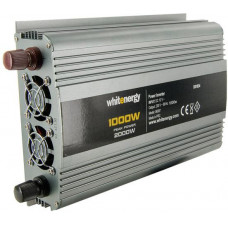 WHITENERGY WE Měnič napětí DC/AC 12V / 230V, 1000W, 2 zásuvky