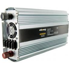 WHITENERGY WE Měnič napětí DC/AC 12V / 230V, 2000W, 2 zásuvky