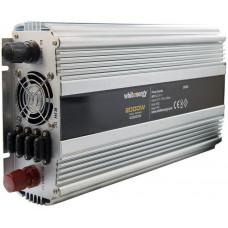 WHITENERGY WE Měnič napětí DC/AC 24V / 230V, 2000W, 2 zásuvky