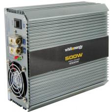 WHITENERGY WE Měnič napětí DC/AC 24V / 230V, 500W, 2 zásuvky