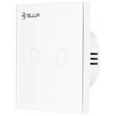 Tellur WiFi Smart Spínač, 2 porty, 1800 W, 10 A., bílý