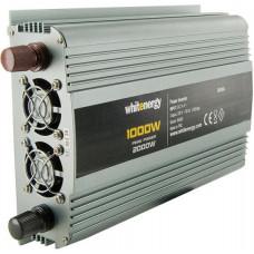WHITENERGY WE Měnič napětí DC/AC 24V / 230V, 1000W, 2 zásuvky