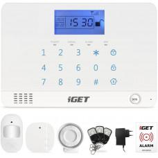 IGET SECURITY M3B - bezdrátový GSM alarm CZ, zasílá SMS/telefonuje,záložní baterie 8 hod,aplikace