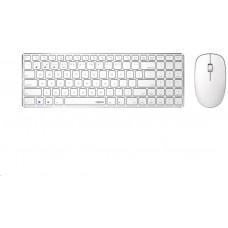 Rapoo klávesnice a myš 9300M, bezdrátová, Multi-Mode Slim Mouse, Ultra-Slim Keyboard, bílá