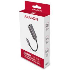 AXAGON ADE-TRC, USB-C 3.2 Gen 1 - Gigabit Ethernet síťová karta, auto instal, titanově šedá