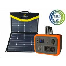 Viking bateriový generátor AC600, 600W, oranžová + solární panel L110
