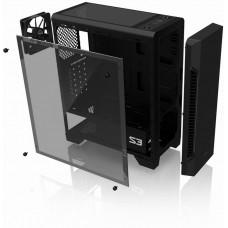 Zalman case miditower S3 TG, ATX, 3x 120mm ventilátor, 1x USB 3.0, 2x USB 2.0, průhledná bočnice