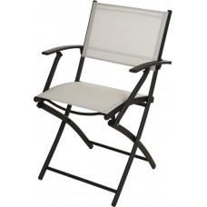 židle zahradní rozkl.46x52x85cm kov/textil ANTR/BÍ