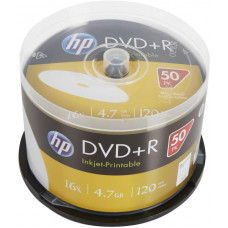 HP DVD+R HP 4,7 GB (120min) 16x Inkjet Printable 50-cake