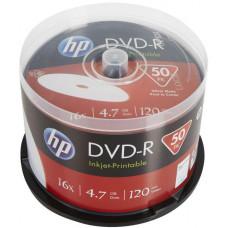 HP DVD-R HP 4,7 GB (120min) 16x Inkjet Printable 50-cake
