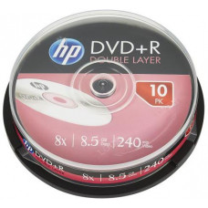 HP DVD+R HP 8,5 GB (240min) DL 8x 10-cake