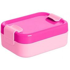 PLAST TEAM box svačinový 12,9x9,5x5cm s klick.uz. PH RŮŽ