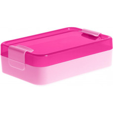 PLAST TEAM box svačinový 21x14x6,5cm s klick.uz. PH RŮŽ