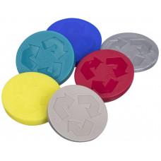 PLAST TEAM symboly recyklační na odp.koš REC PH mix barev (6ks)