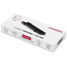Axagon CLR-M2L3, hliníkový pasivní chladič pro M.2 2280 SSD, výška 3 mm