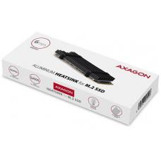 Axagon CLR-M2L6, hliníkový pasivní chladič pro M.2 2280 SSD, výška 6 mm
