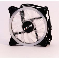 1stCOOL ventilátor RGB 12CM FAN pro case RAINBOW, 120x25mm (bílé lopatky)