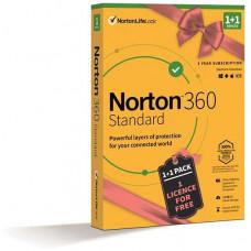 NortonLifeLock NORTON 360 STANDARD 10GB CZ 1uživ. 1 zařízení 12mesicu 1+1 ZDARMA_Box
