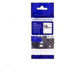 PrintLine kompatibilní páska s Brother TZE-241, TZ-241, 18mm x 8m, černý tisk / bílý podklad