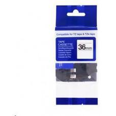 PrintLine kompatibilní páska s Brother TZE-261, TZ-261, 36mm x 8m, černý tisk / bílý podklad