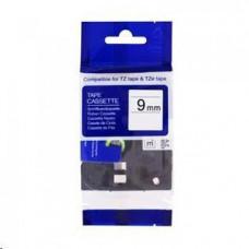 PrintLine kompatibilní páska s Brother TZE-S211, 6mm x 8m, černý tisk / bílý podklad, extra