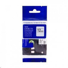 PrintLine kompatibilní páska s Brother TZE-S261, 36mm x 8m, černý tisk / bílý podklad, extra