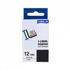 PrintLine kompatibilní páska s Casio XR-12BU1 12mm, 8m, černý tisk/modrý podklad