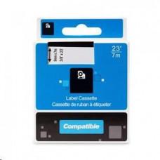 PrintLine kompatibilní páska s DYMO, 40917 S0720720,9mm,7m, černý tisk/červený podklad, D1
